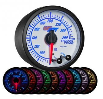 Glowshift White Elite 10 Color Transmission Temperature Gauge
