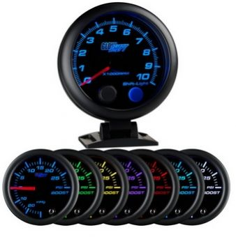 "Glowshift Black 7 Color 3 3/4"" Tachometer w/ Shift Light"