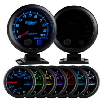 "Glowshift Tinted 7 Color 3 3/4"" Tachometer w/ Shift Light"