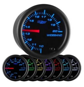 Glowshift Black 7 Color Needle Wideband Air/Fuel Ratio Gauge