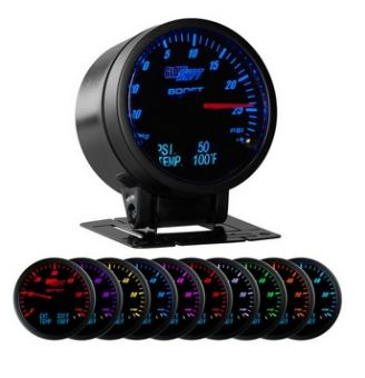 Glowshift 3in1 Black Face Boost/Vac w/ Digital Pressure & Temp Gauge