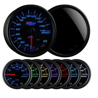 "Glowshift Tinted 7 Color 3 3/4"" In-Dash Speedometer Gauge"
