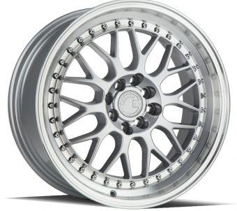 AODHAN WHEELS Silver w/Machined Lip 18x9.5 5x100 - Hub Bore 73.1 Offset 30