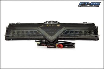 VALENTI JEWEL 4TH BRAKE LIGHT / REVERSE LIGHT (LIGHT SMOKE LENS, BLACK CHROME INNER REFLECTOR) 2013-2020 Scion FR-S / Subaru BRZ / Toyota 86