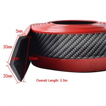 Ikon Motorsports Universal Fit Carbon Look Black Red EZ Install Front Chin Quick lip 98 Inches