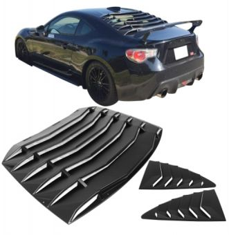 Ikon Motorsports Fits 13-20 Scion FR-S Subaru BRZ Rear Window Louver with Side Quarter Scoop