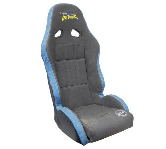 "NRG Innovations ""Defender"" Water Resistant Offroad Spec Suspension Seat - Grey/Blue (lightweight steel frame 17lbs)"