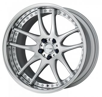 Work Wheels Emotion CR 3P 20x12.5 +124 5x100  Deep Concave - Burning Silver (BS) - Reverse