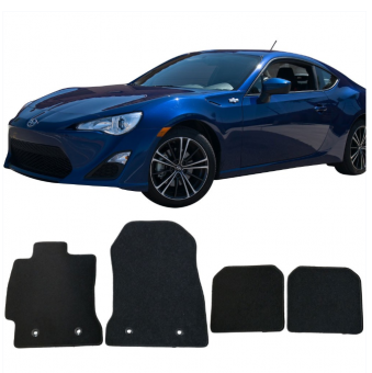 Fits 13-18 Scion FRS Subaru BRZ Toyota 86 Floor Mats Carpet Black 4PC - Nylon