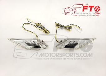 FT86MS Clear LED Sidemarkers with Turn Signal - 2013+ BRZ/FR-S/86