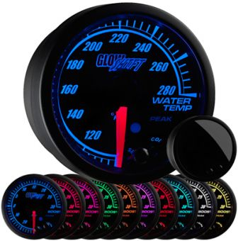 GlowShift Elite 10 Color Water Temperature Gauge - 2013+ FR-S / BRZ