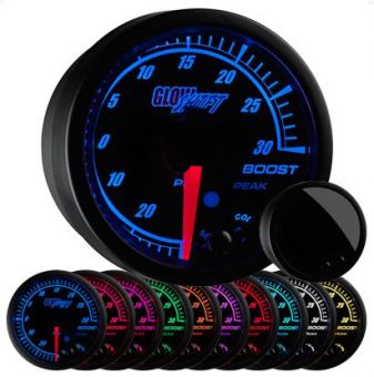 GlowShift Elite 10 Color 30 PSI Electronic Boost / Vacuum Gauge - 2013+ FR-S / BRZ