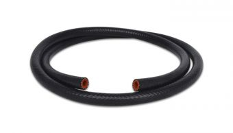 Vibrant 5/16in (8mm) I.D. x 20 ft. Silicon Heater Hose reinforced - Black