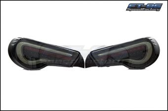 VALENTI / HELIX SEQUENTIAL SMOKED LENS BLACK HOUSING WITH WHITE BAR TAIL LIGHTS - 2013+ FR-S / BRZ / 86