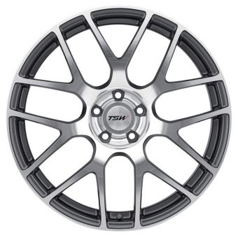 TSW NURBURGRING WHEELS 17X8 +35MM (GUNMETAL W/ MACHINED FACE) 2013+ FR-S / BRZ / 86 / 2014+ Forester