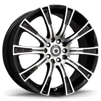 KONIG CROWN 16X7.5 5X100/108  ET40 Black Machine face