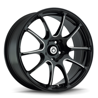 KONIG ILLUSION 18X8 5X100 ET35 Black/Ball Cut Machine