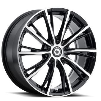 KONIG IMPRESSION 16x7.5 5x100 ET40 GLOSS BLACK W/ MACHINED FACE