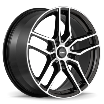 KONIG INTENTION 16x7.5 5x100 ET45 Gloss Black / Machine Face
