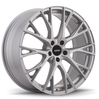 KONIG INTERFLOW 16x7.5 5X100 ET40 Metallic Silver