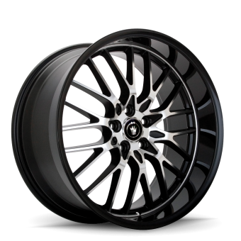 KONIG LACE 18X8 5X100 ET35 Black/Machine Spoke