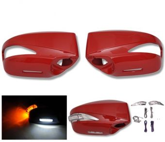Ikon Motorsports Painted Mirror Cover Replacement LED -ABS #C7P