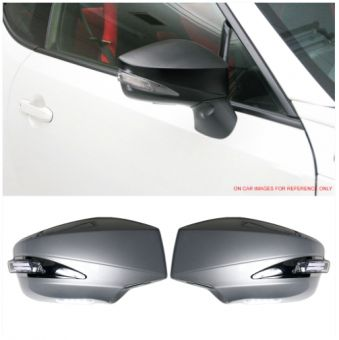 Ikon Motorsports Fits 13-19 Scion FRS Toyota GT86 FT86 LED Painted Side Mirror #D6S Argento