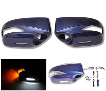 Ikon Motorsports Painted Mirror Cover Replacement LED -ABS #E8H