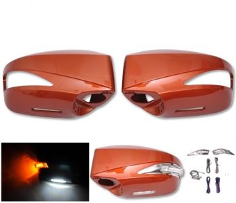 Ikon Motorsports Painted Mirror Cover Replacement LED -ABS #H8R