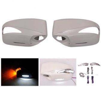 Ikon Motorsports Painted Mirror Cover Replacement LED -ABS #K1X