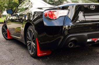 Rally Armor Mud Flaps (Red/White) - 2013+ FR-S / BRZ