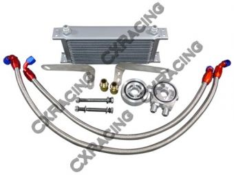 CXRacing External Oil Cooler Kit For Scion FR-S / Subaru BRZ FA20 Boxster Engine