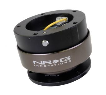 NRG Innovations Quick Release Kit - Black/Black Ring (6 Hole Base, 5 Hole Top)