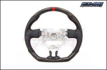 FT-86 SpeedFactory Carbon Fiber Red Stitching Steering Wheel - 2013-2016 FR-S / BRZ / 86