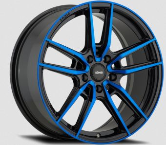 KONIG MYTH 17x8 5x100 ET43 GLOSS BLACK W/ BLUE TINTED CLEARCOAT