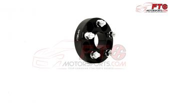 FT86MS Hub Centric Wheel Bolt-on Spacers 25mm 5x100 PAIR - BLK - 13+ FR-S/BRZ/86